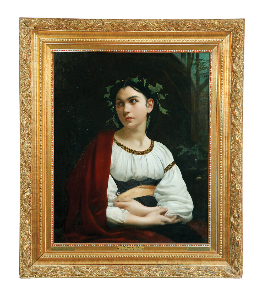 Portrait of a muse after William Adolphe Bouguereau, $2,000-3,000