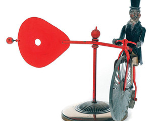 Teddy Roosevelt whirligig circa 1901 auctions for nearly $900