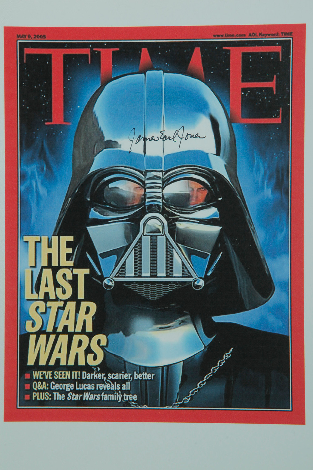 Time Cover signed by James Earl Jones