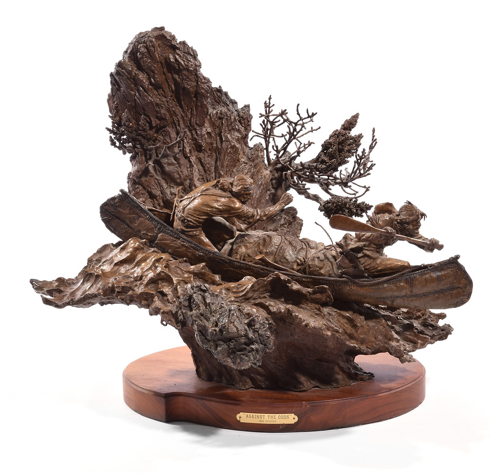 """""""Against The Odds,"""" the dramatic bronze by Bob Grieves"""