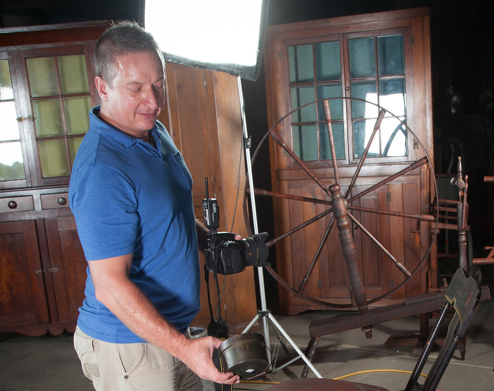 Terry Thurston, Garth's Auctions' photographer knows that selling starts long before auction day. His images are seen across the nation and around the world in our auction catalogs.