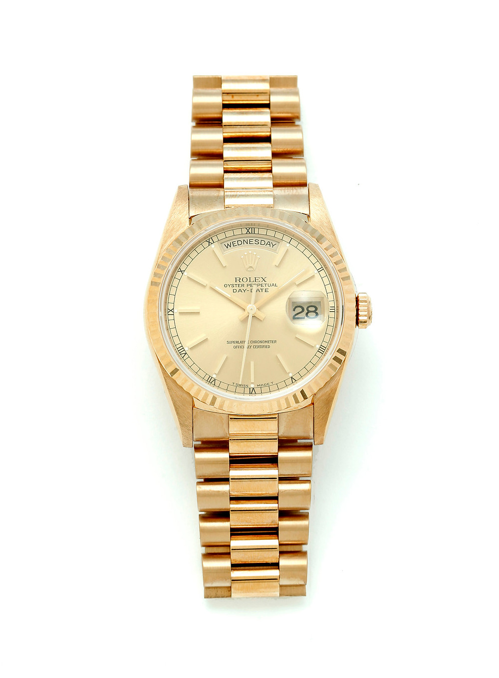 ROLEX OYSTER PERPETUAL DAY DATE PRESIDENT WATCH.