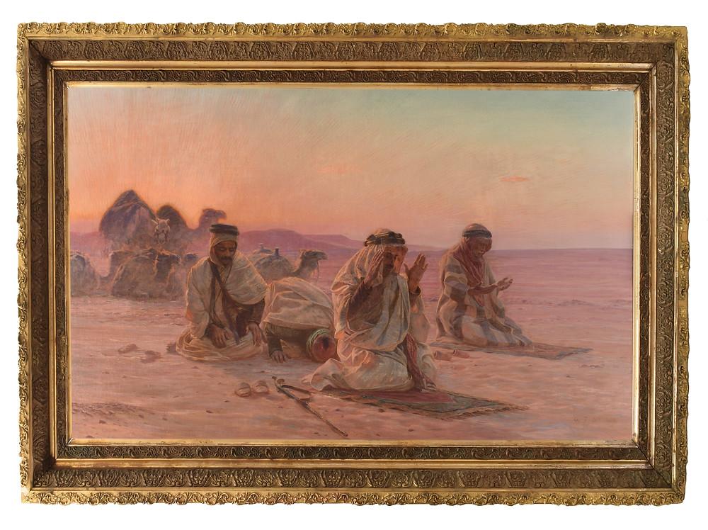 Evening Prayers, a 1909 oil on canvas by Otto Pilny
