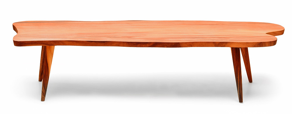 Lot 6 MID-CENTURY RED ZITAN COFFEE TABLE (20TH CENTURY). Estimate $ 1,800-2,500 selkirkauctions.com
