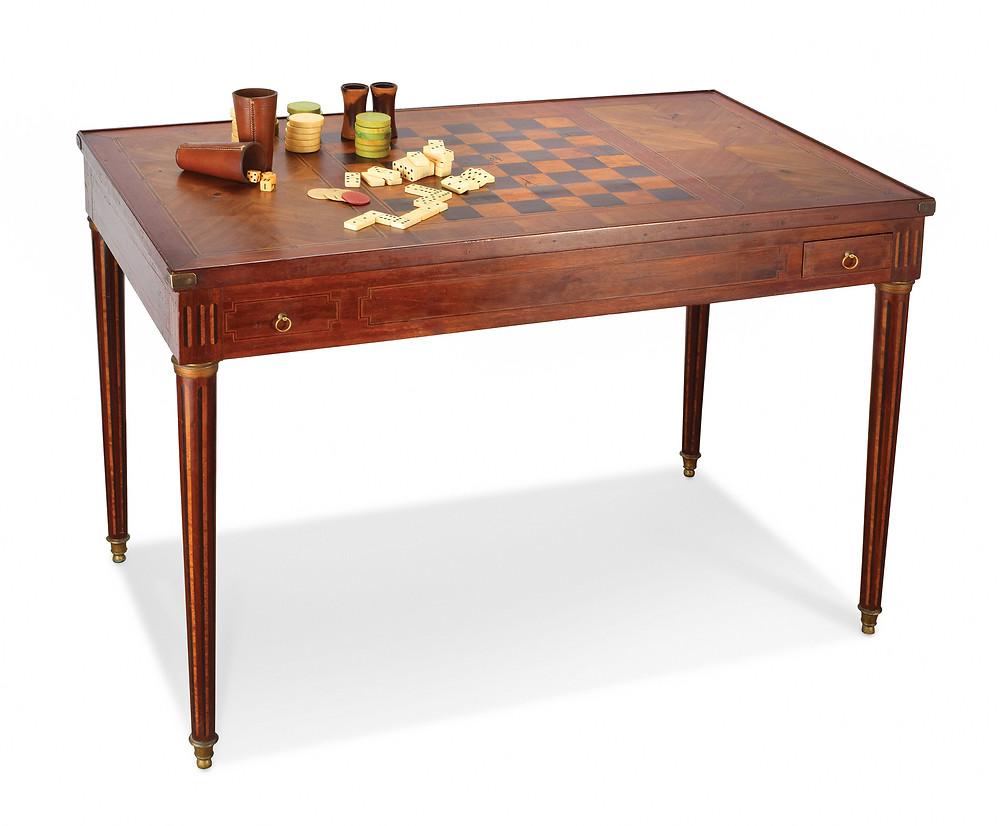 Lot 157 UNIQUE INLAID GAME TABLE. Continental, 18th century. Est. $2000-4000 selkirkauctions.com