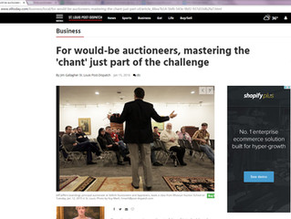 For would-be auctioneers, mastering the 'chant' just part of the challenge