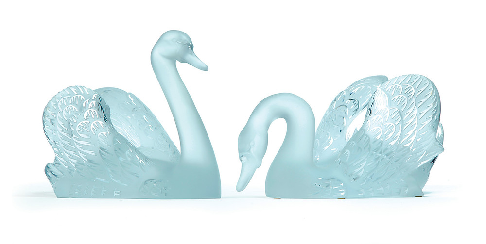 Pair of large Lalique swans, $2,500-3,500