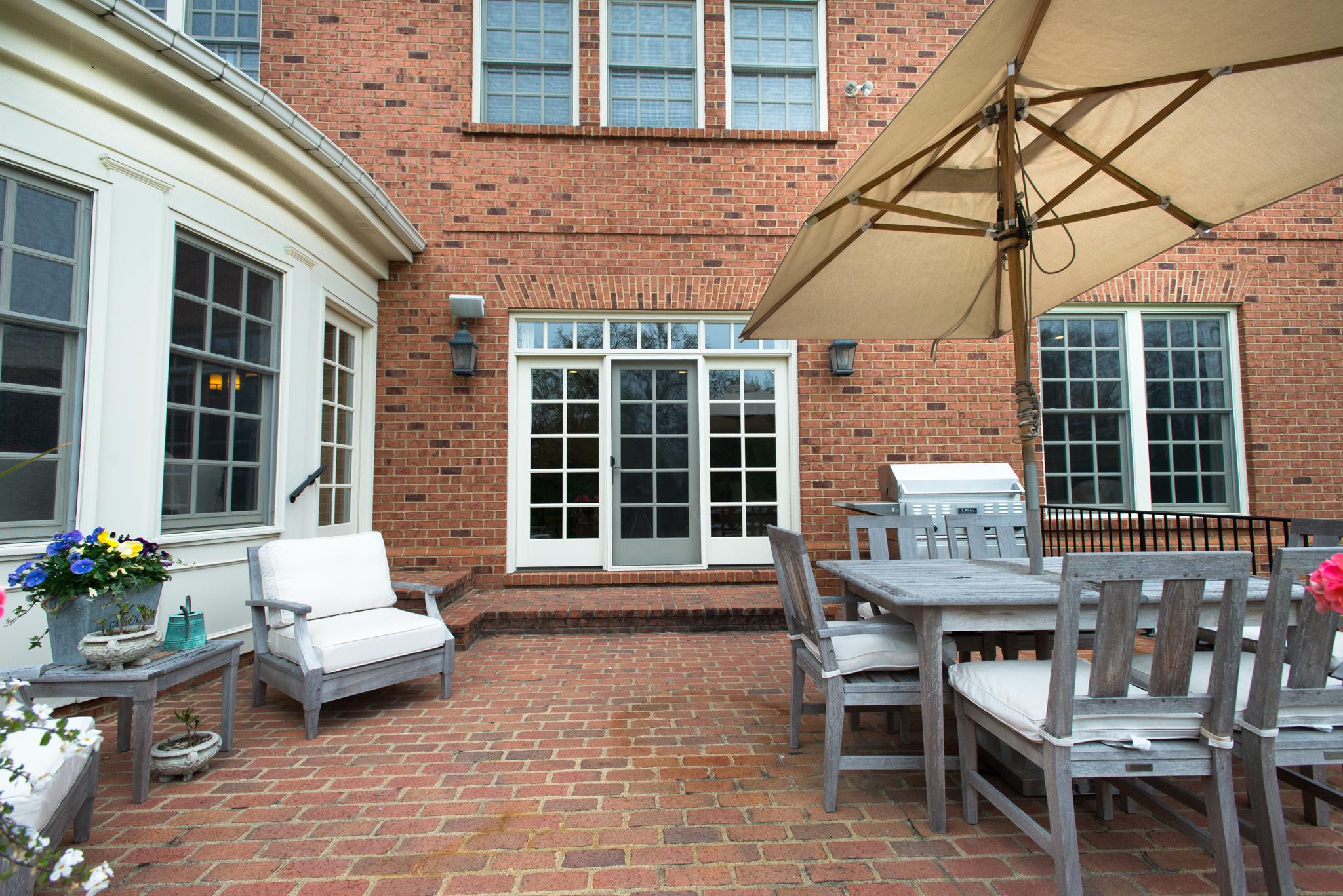 Large patio...