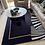 Thumbnail: Nordic Style High Density Woven Area Rug, Modern Simple Black Decorative Rug