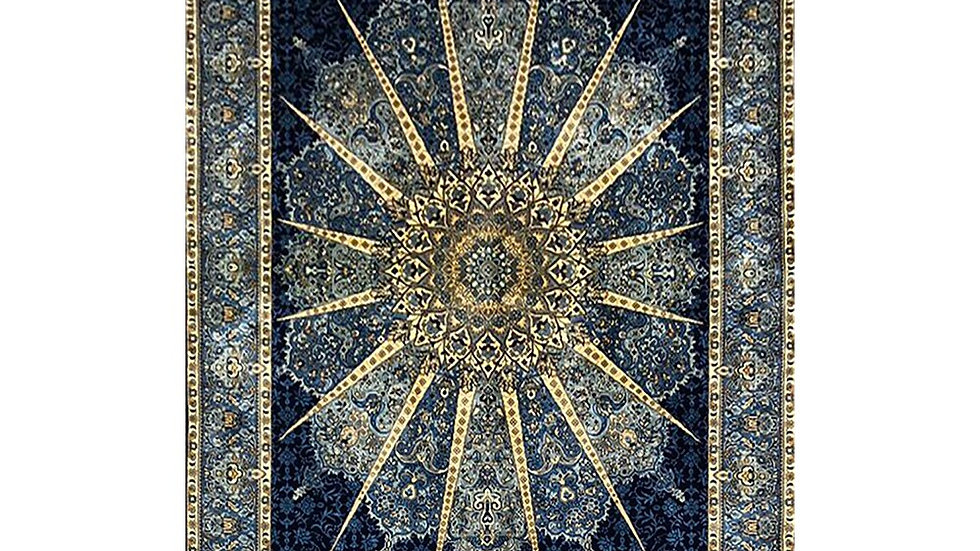 3' x 4.5' Sun Pattern Prayer Rug. Turkish Design. Oriental 100% Silk Area Rug