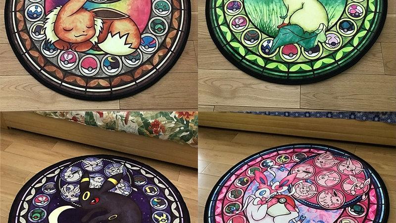 Pokemon Round Carpet Rug Cute Floor Rug for Living Bedroom Kid Room Non-Slip Mat