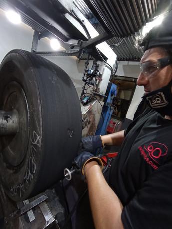 Pulido de neumáticos