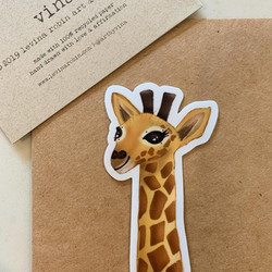 Vinyl giraffe sticker drawn by me