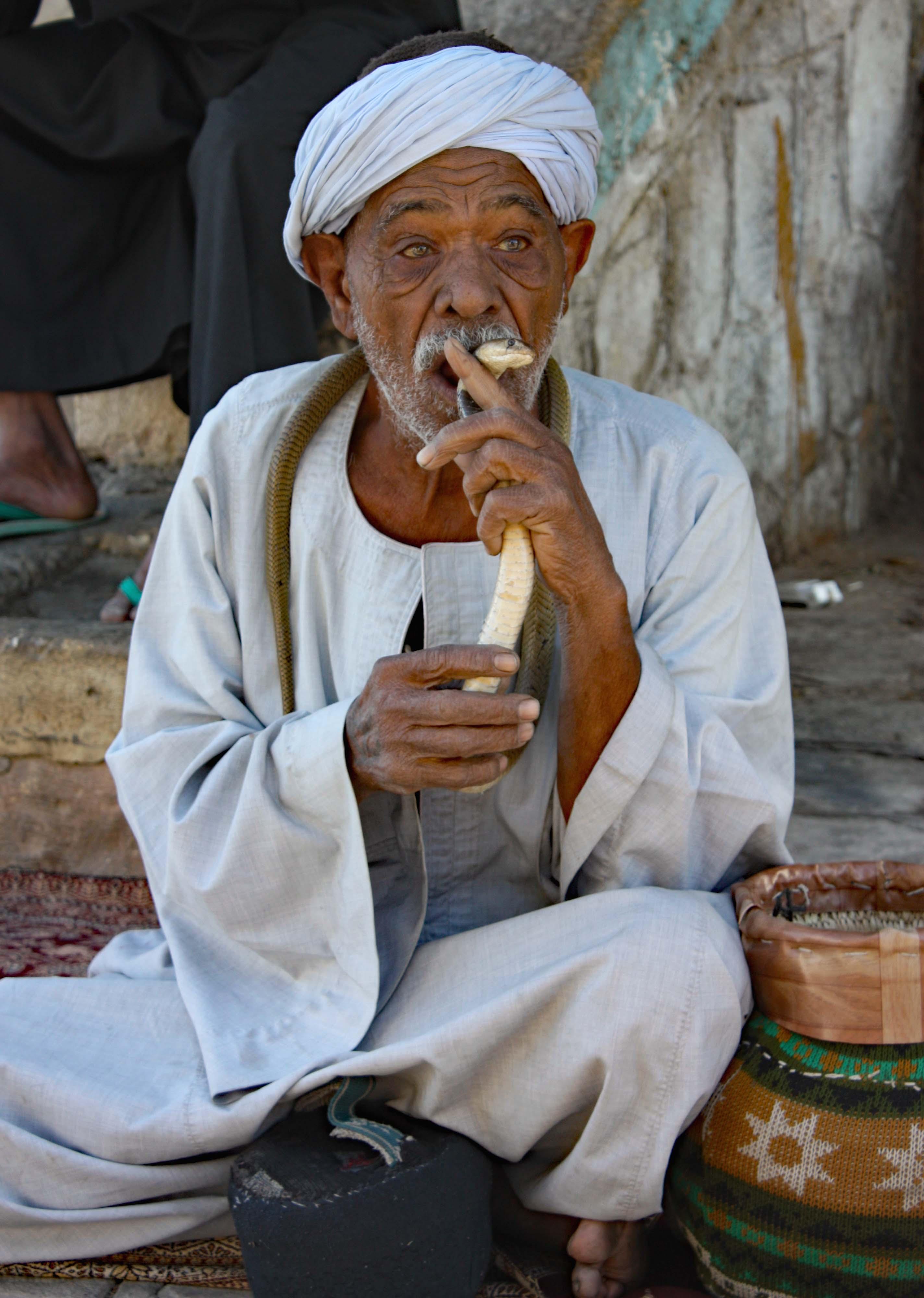 Egyptian snakehandler