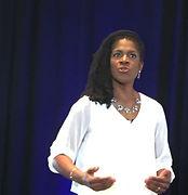 Valerie presenting