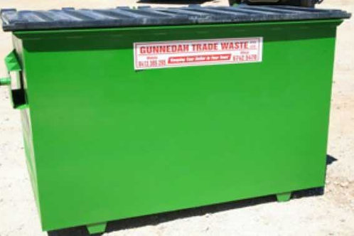 Permanent general waste bin 3m3 — businesses only