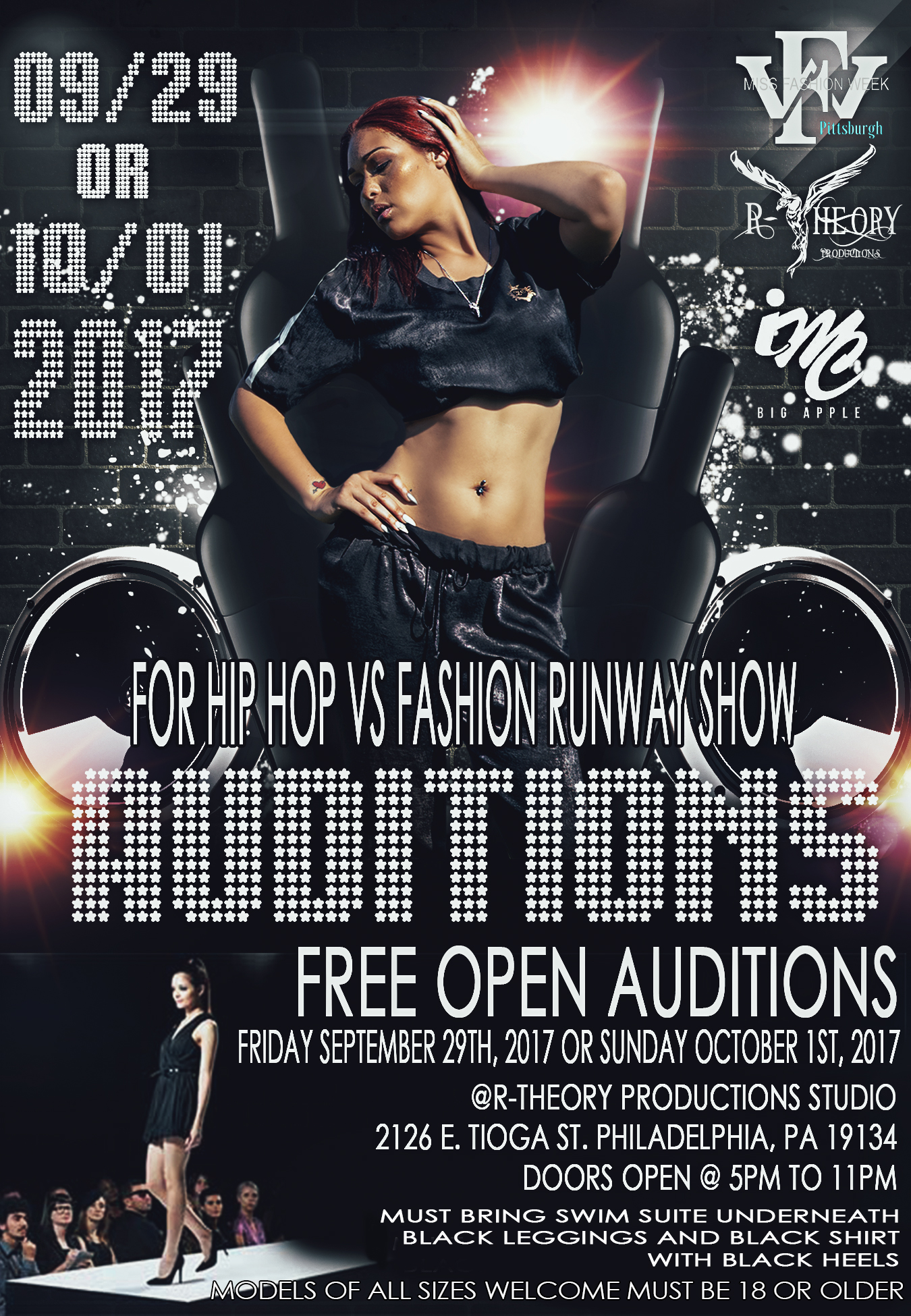 Hip Hop Vs. Fashion Audition Flyer