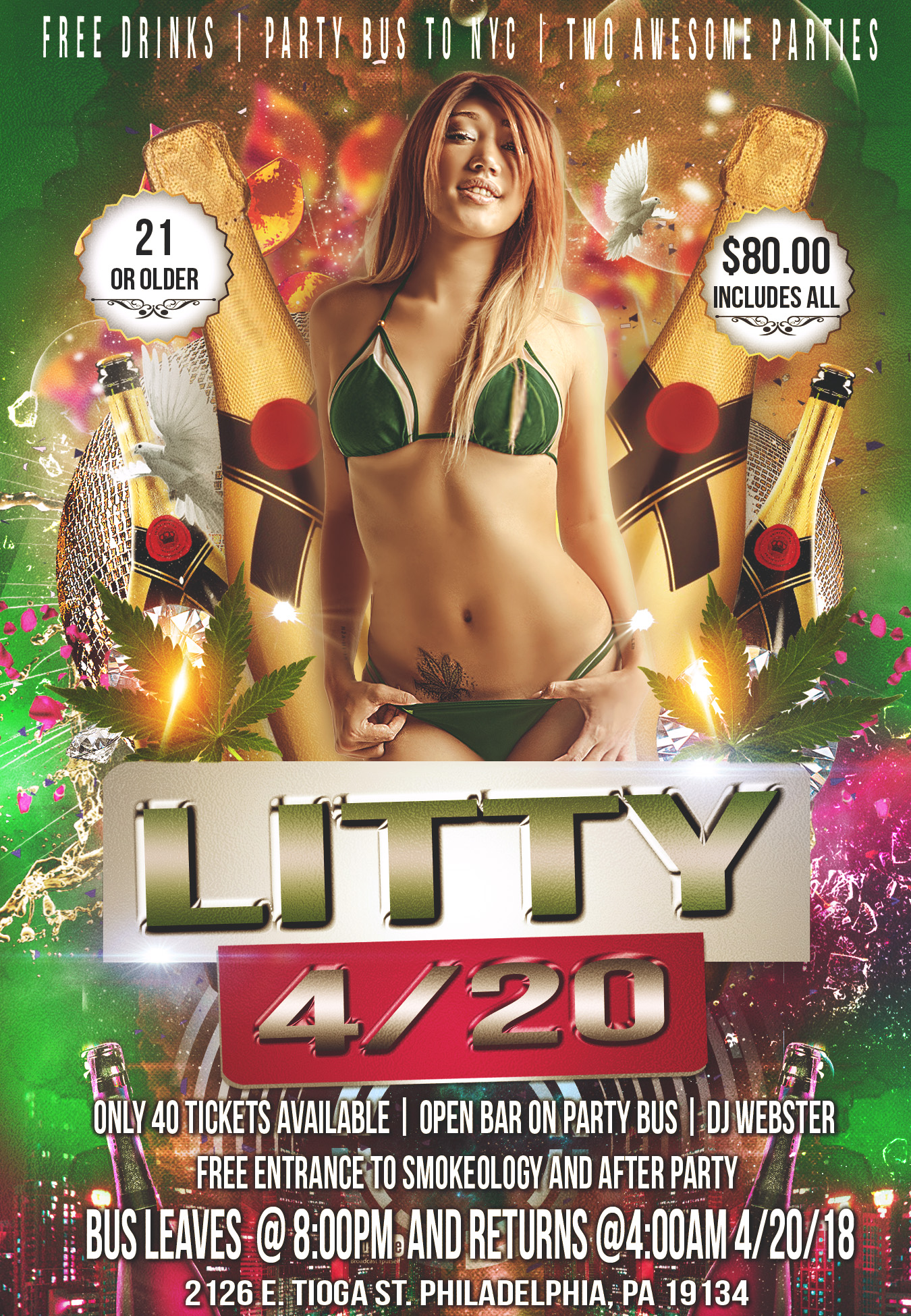420 Bus Party Flyer
