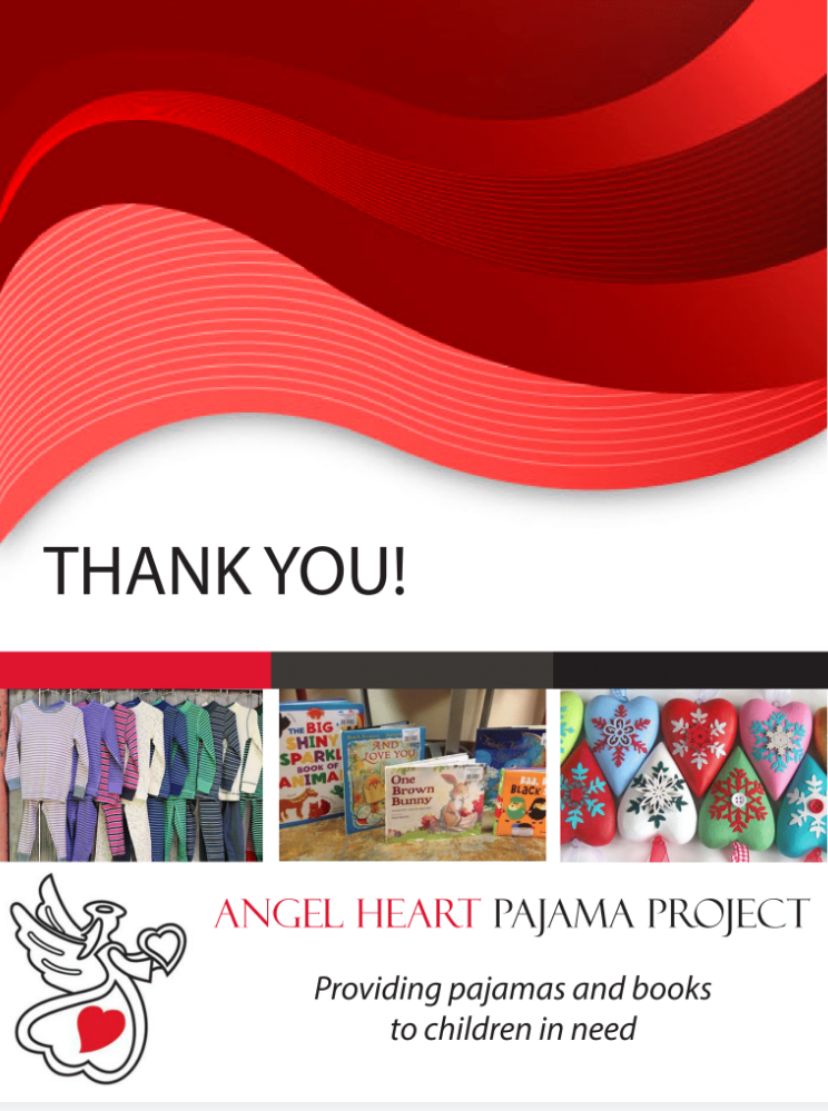 Angel Heart Pajama Project - Back