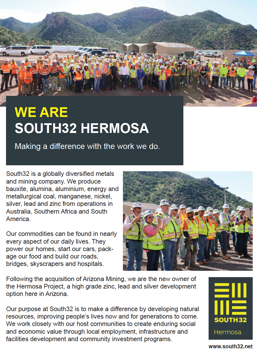 SOUTH32 - Full Page Advertisement