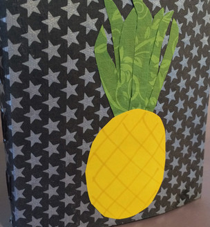 Handmade Book with Pinapple Collage