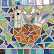 Glass Mosaic Hen