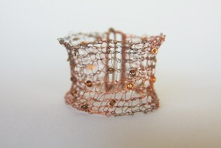 Copper Knitted bracelet