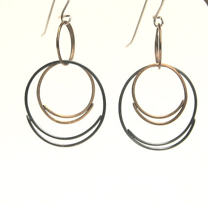 Crescent Series #1 Silver and Brass