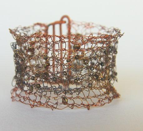 Copper & Brass Knitted Bracelet
