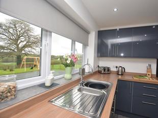 Light, airy kitchen