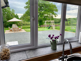 Countryside view from kitchen