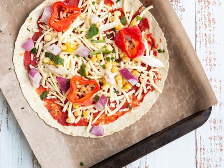 2 Minute Pizzas (Kid-Friendly)