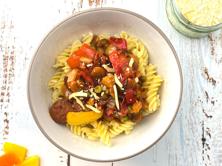 Chorizo & Veggie-Packed Pasta