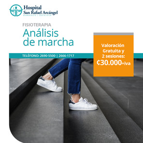 Paquete Fisioterapia Análisis de marcha 2 sesiones. Validez de esta promo: 30 de junio, 2021. Aplican restricciones.