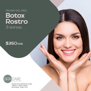 Skin Care Center Botox rostro 3 zonas. Validez de esta promo: 30 de junio, 2021. Aplican restricciones.