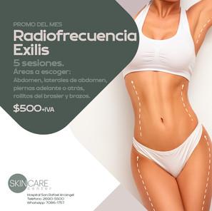 Skin Care Center Radiofrecuencia Exilis Validez de esta promo: 30 de junio, 2021. Aplican restricciones.