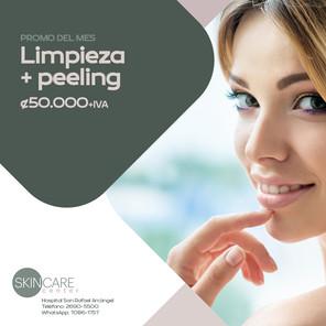 Skin Care Center Limpieza + peeling Validez de esta promo: 30 de junio, 2021. Aplican restricciones.