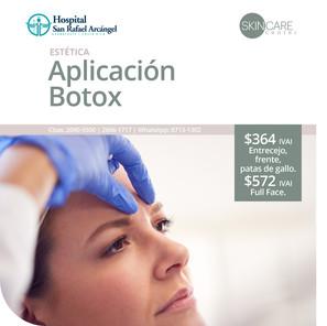 Skin Care Center Aplicación Botox  2 Opciones. Promoción vigente hasta el 31 de marzo, 2021.