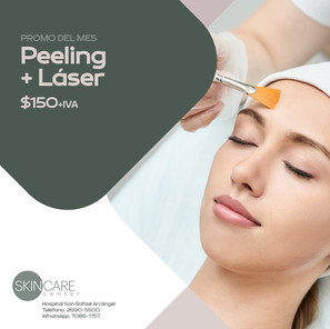 Skin Care Center Peeling + láser Validez de esta promo: 30 de junio, 2021. Aplican restricciones.