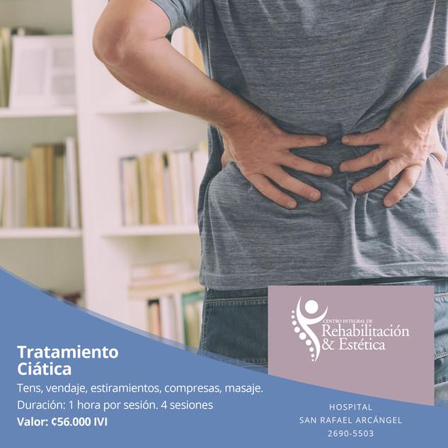 Tratamiento ciática 4 sesiones. Oferta válida hasta el 30 de noviembre, 2020.