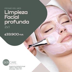 Skin Care Center Limpieza facial profunda 2x1 Validez de esta promo: 30 de junio, 2021. Aplican restricciones.