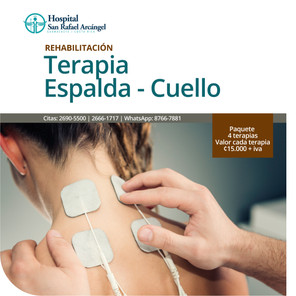 Terapia Espalda y Cuello Paquete 4 sesiones Validez de la oferta: 31 marzo, 2021