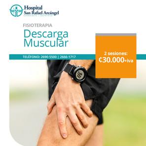 Paquete Fisioterapia Descarga muscular 2 sesiones. Validez de esta promo: 30 de junio, 2021. Aplican restricciones.