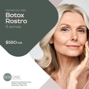 Skin Care Center Botox rostro 5 zonas. Validez de esta promo: 30 de junio, 2021. Aplican restricciones.