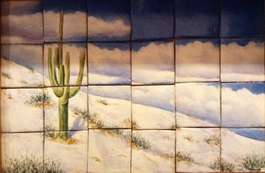 Invierno en el desierto