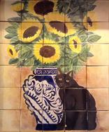 Girasol y gato