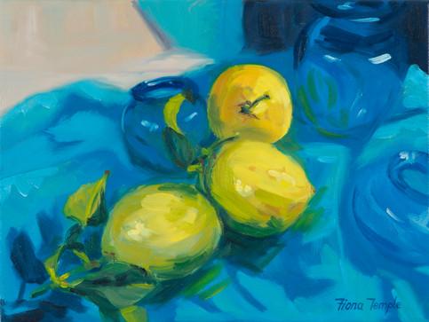 "Lemons - Oil on canvas   9"" x 12"""