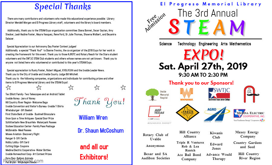 Copy of Copy of STEAM Expo Program Front