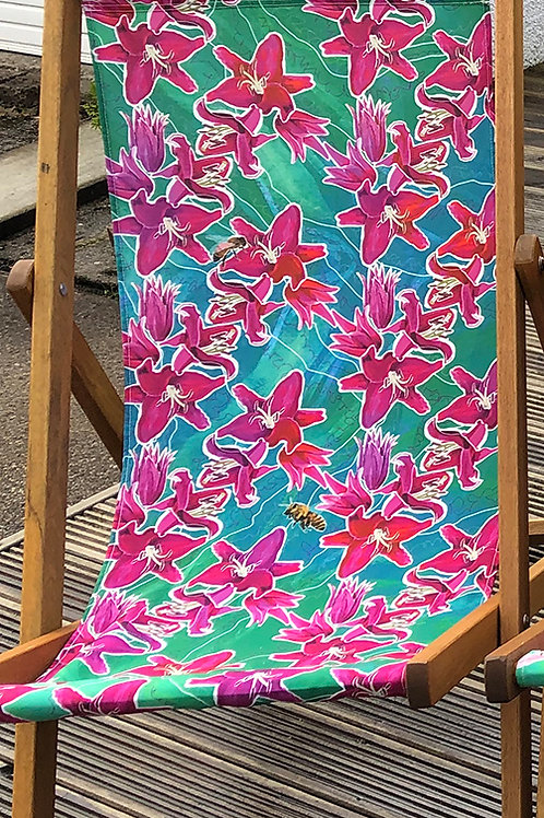 Lena's Lilies Deckchair 1- 100% Polyester Canvas Sling