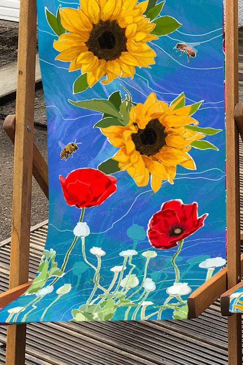 Deckchair St Monan's 1 - 100% Polyester Canvas Sling